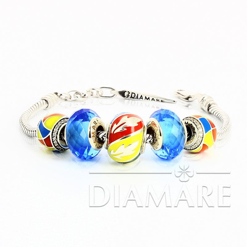 Браслет Diamare с цветными перлинами