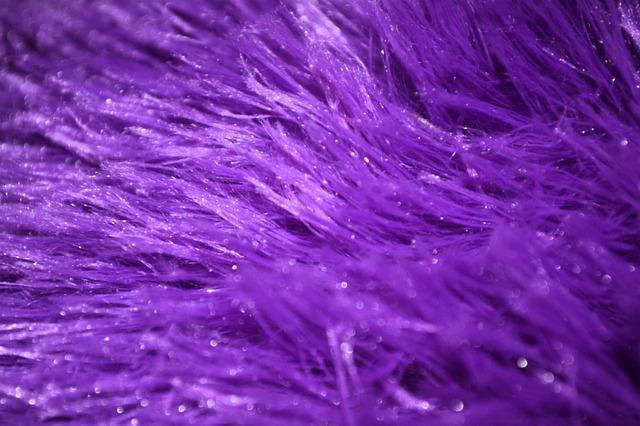 Фиолетовый мех