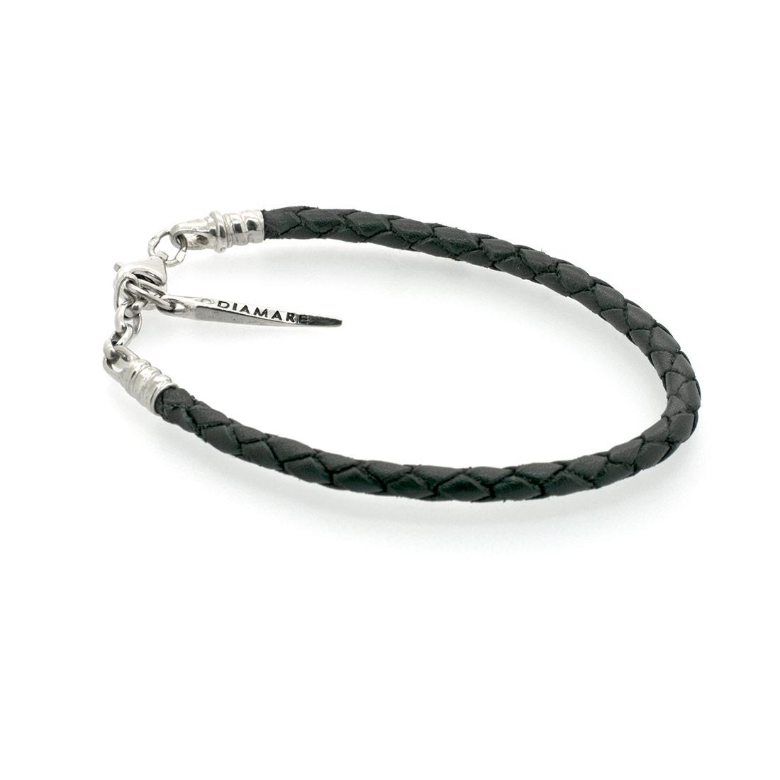 Кожаный браслет-накопитель Diamare Плетенка
