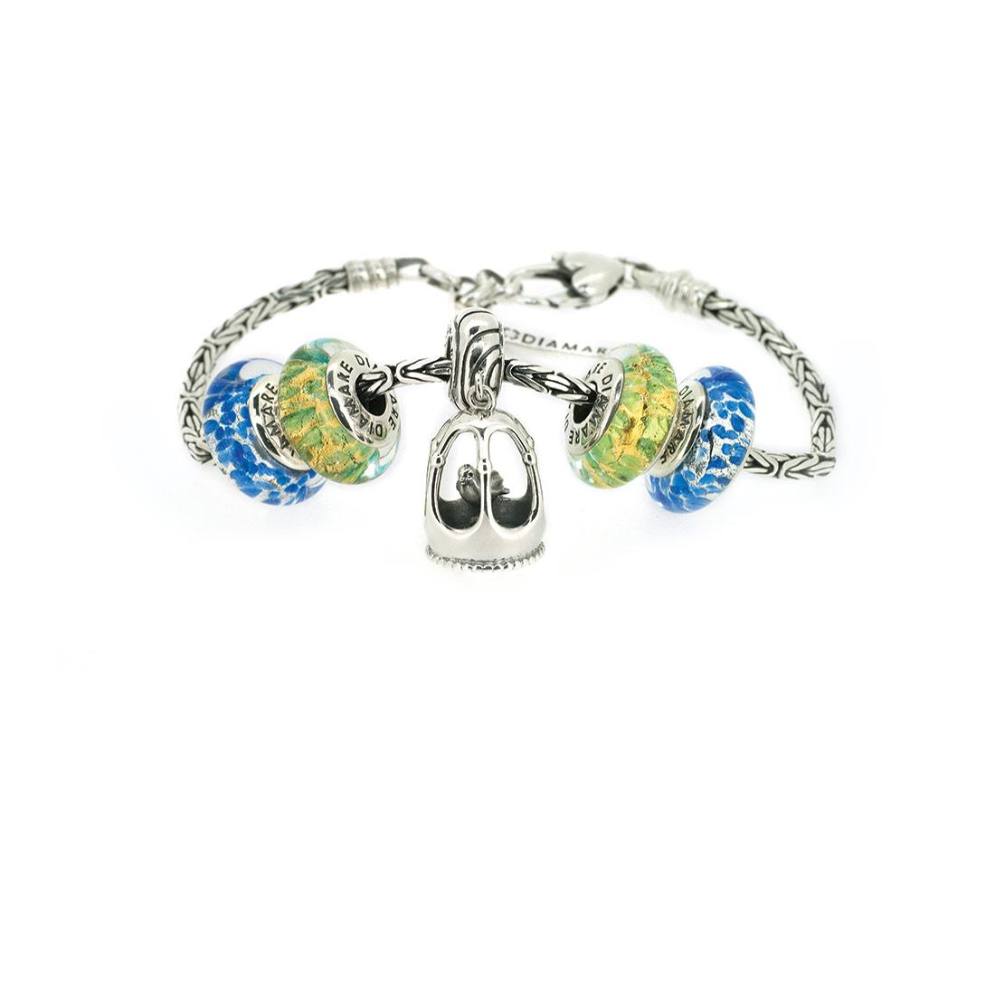 Браслет Diamare с голубыми перлинами