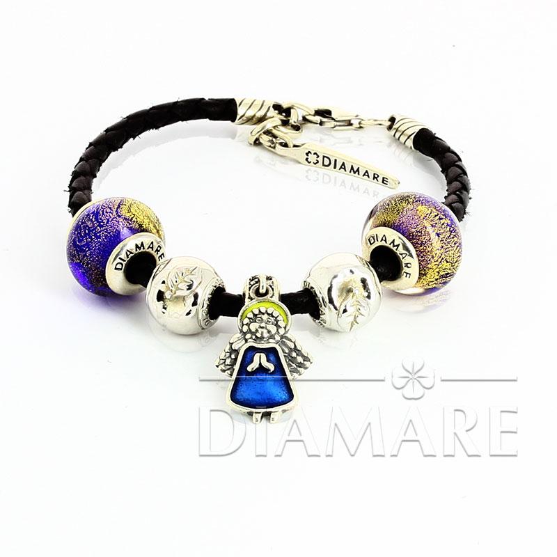 Браслет Diamare с синими перлинами