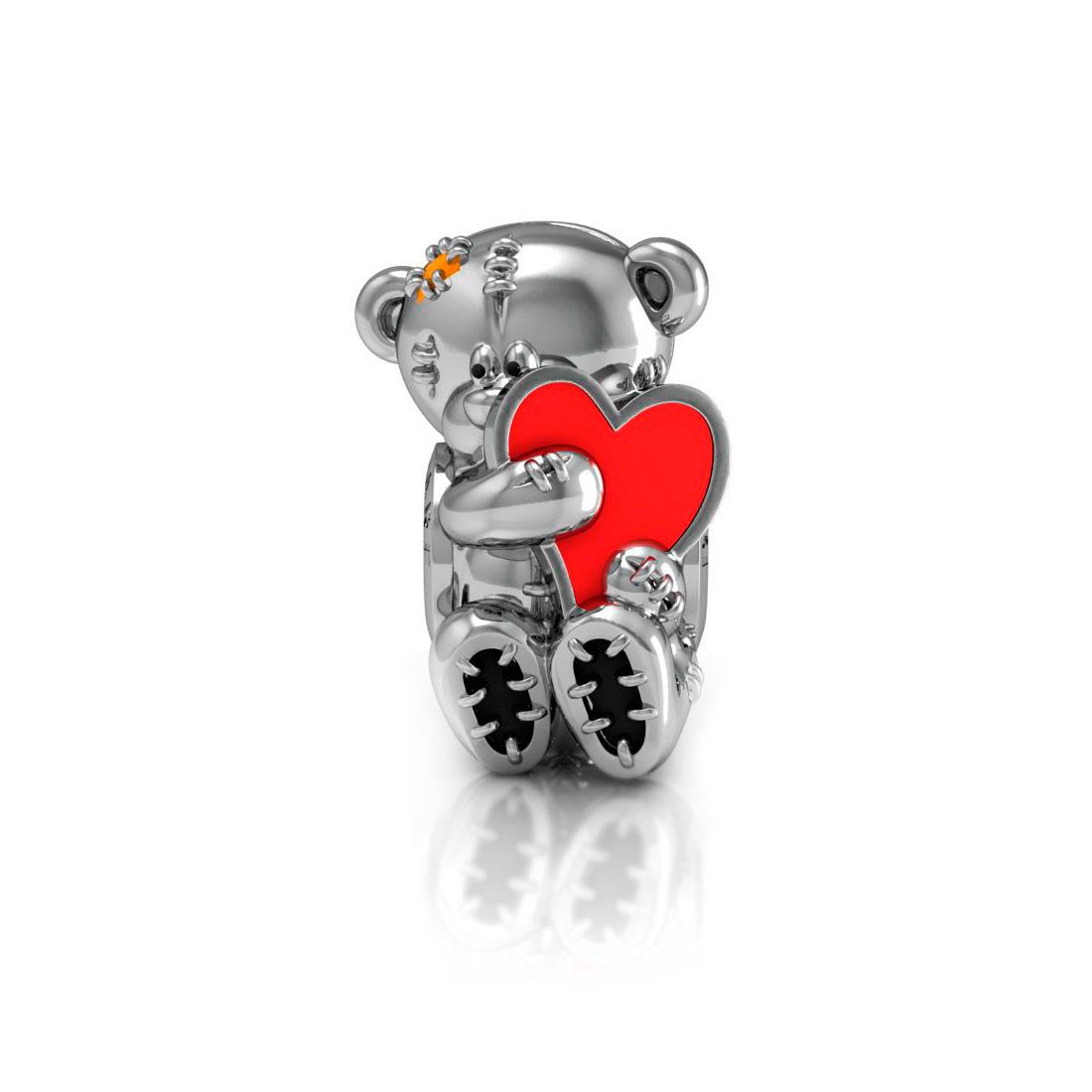 Подвеска перлина Diamare Мишка с сердцем