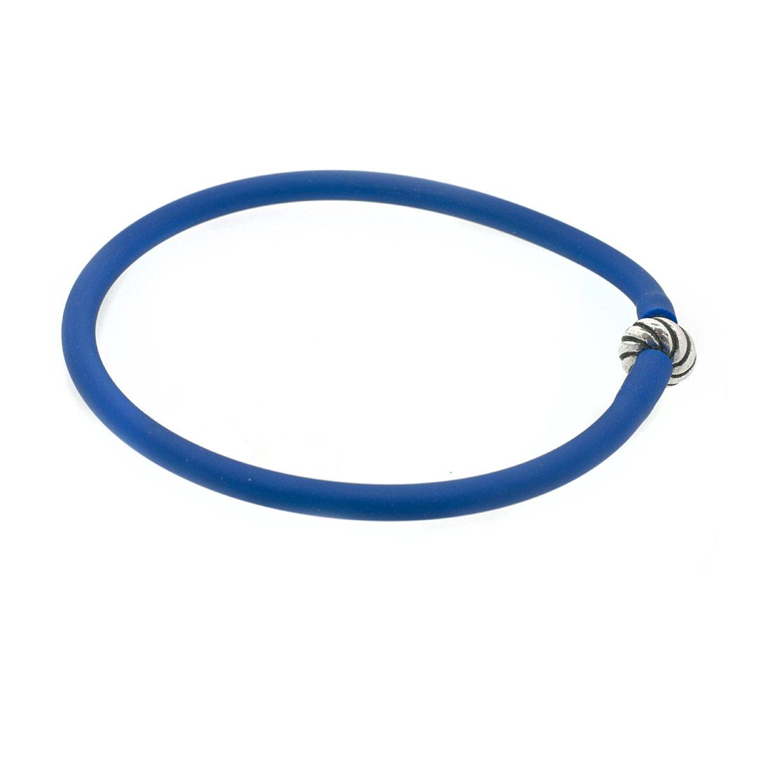 Синий силиконовый браслет Diamare