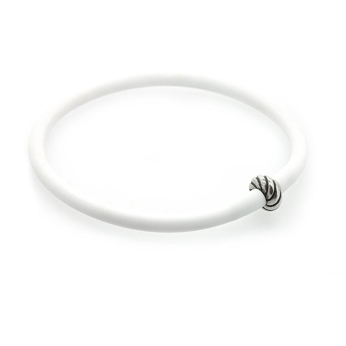 Белый силиконовый браслет Diamare