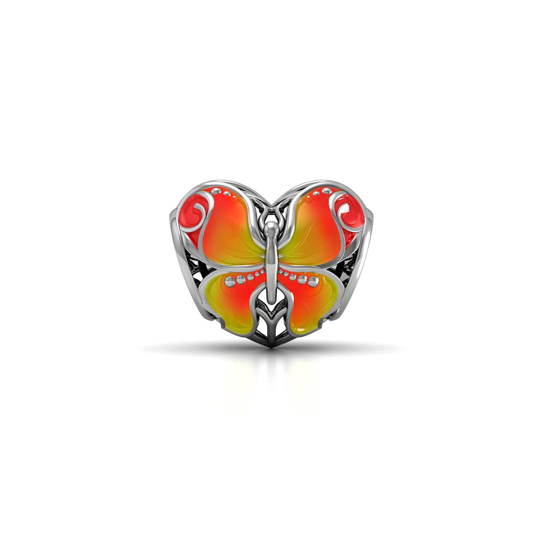 Подвеска-перлина Серебряная бабочка